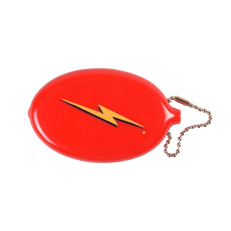 MONEDERO LIGHTNING BOLT COIN POUCH RED