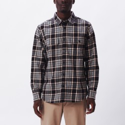 CAMISA OBEY DIVISIONS WOVEN BLACK MULTI
