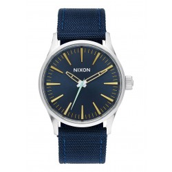 RELOJ SENTRY 38 NYLON NAVY/BRASS NIXON